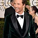 Matthew McConaughey at the Golden Globes 2014