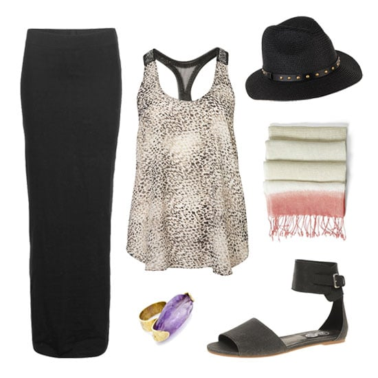 how to wear a black maxi skirt popsugar fashion