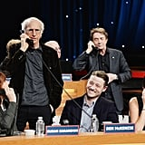 Susan Sarandon, Larry David, Ben McKenzie, Martin Short, and Cecily Strong took the phones during the Night of Too Many Start Live Telethon in NYC on Sunday.