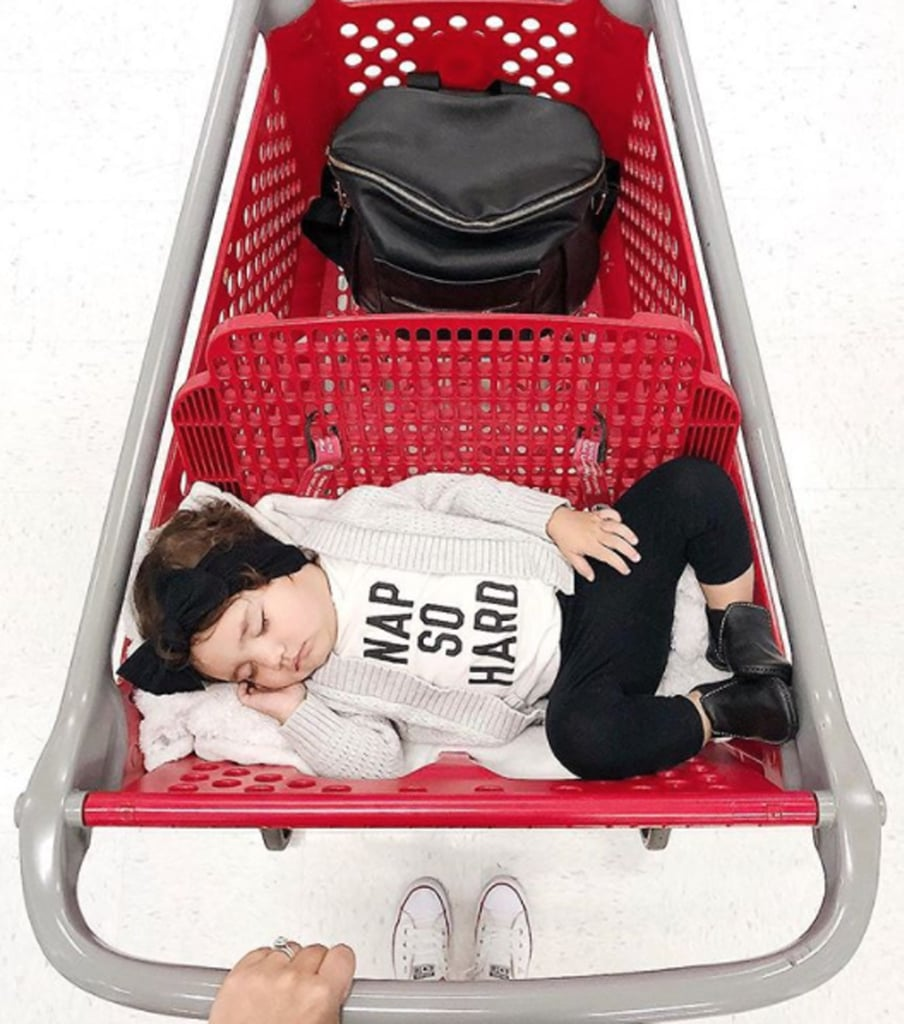 You Won't Be Able to Get Enough of This Toddler Who Keeps Falling Asleep in Target Carts