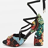 Topshop Rhapsody Embroidered Sandals