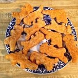 You don't mind the taste of dinosaur-shaped chicken nuggets