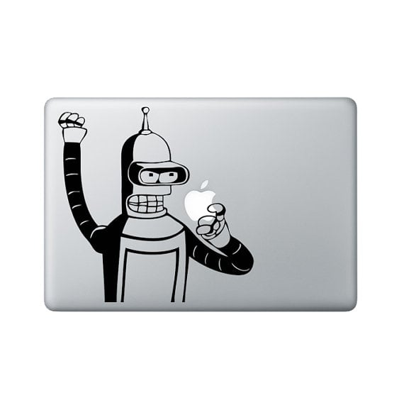 Bender macbook sticker 9