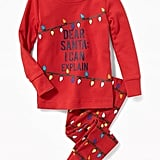 "Old Navy ""Dear Santa: I Can Explain"" Sleep Set for Toddler & Baby"