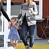 Jennifer Garner and daughter Seraphina made a coffee stop in LA.