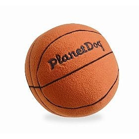 Planet Dog Squeaky Plush Basketball ($9)