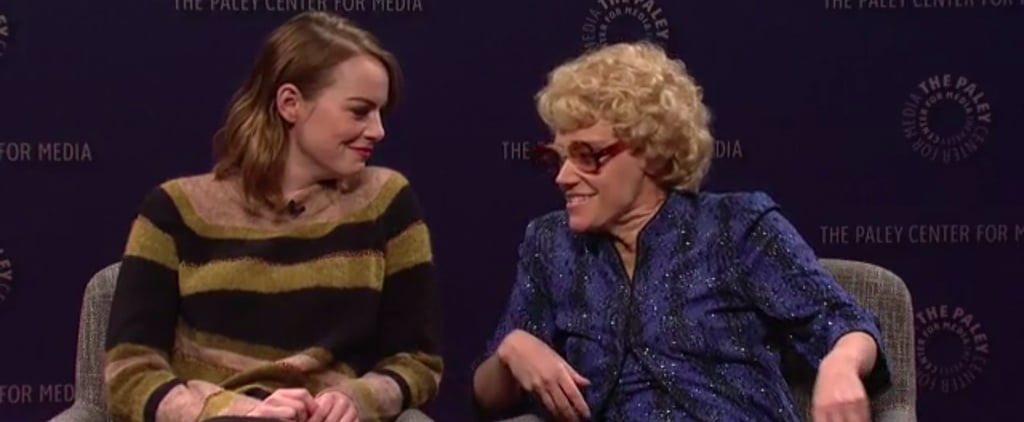 Watch Emma Stone and the Cast of SNL Completely Lose It During This Sketch