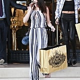 Kendall Jenner went shopping at Barneys New York in Beverly Hills on Friday.