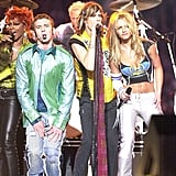 NSYNC, Britney Spears, and Aerosmith Super Bowl Performance