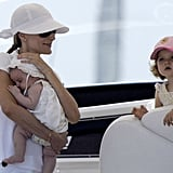 Princess Leonor and Infanta Sofía in 2007