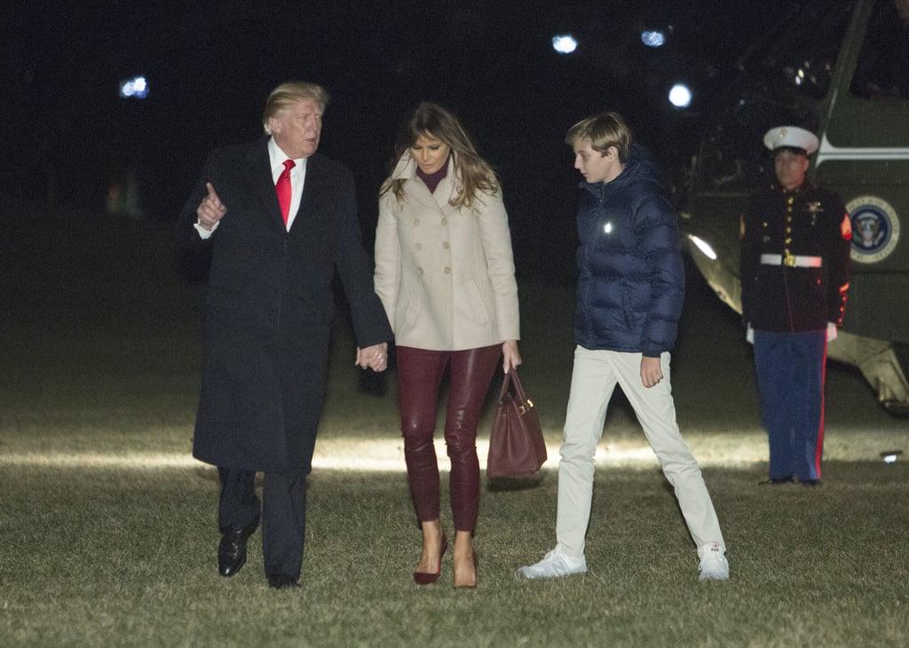 Melania Trump's Helmut Lang Leather Leggings