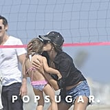 Alessandra Ambrosio and Anja Mazur Beach Pictures