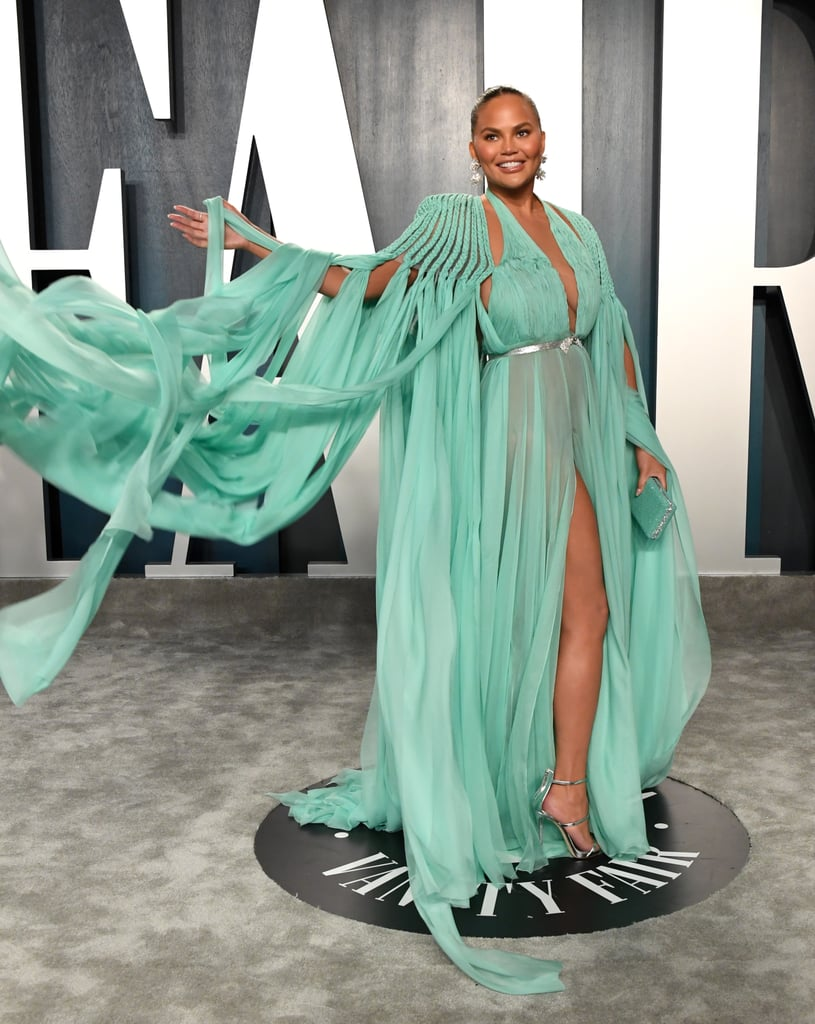 Chrissy Teigen at the Vanity Fair Oscars Afterparty