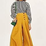 Topshop Horn Button Palazzo Trousers