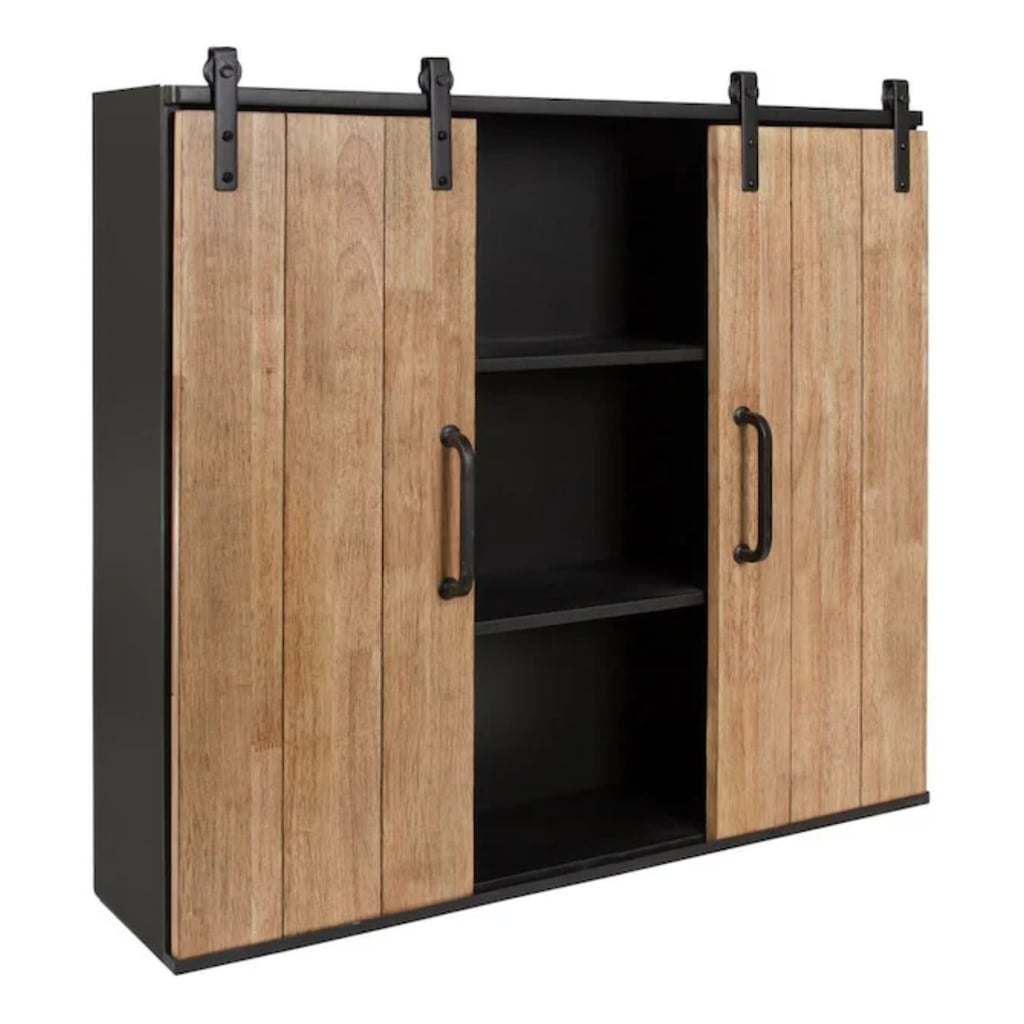 Kate and Laurel Wood Wall Cabinet