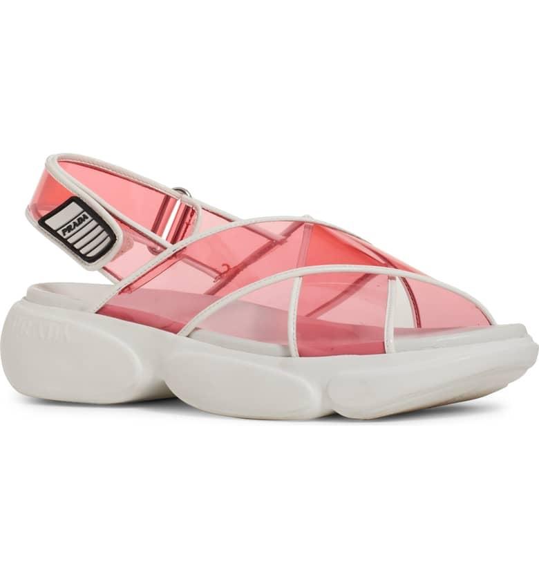 Prada Transparent Strap Sport Sandal