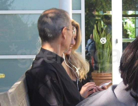Steve Jobs With His Wife Laurene Powell at Apple