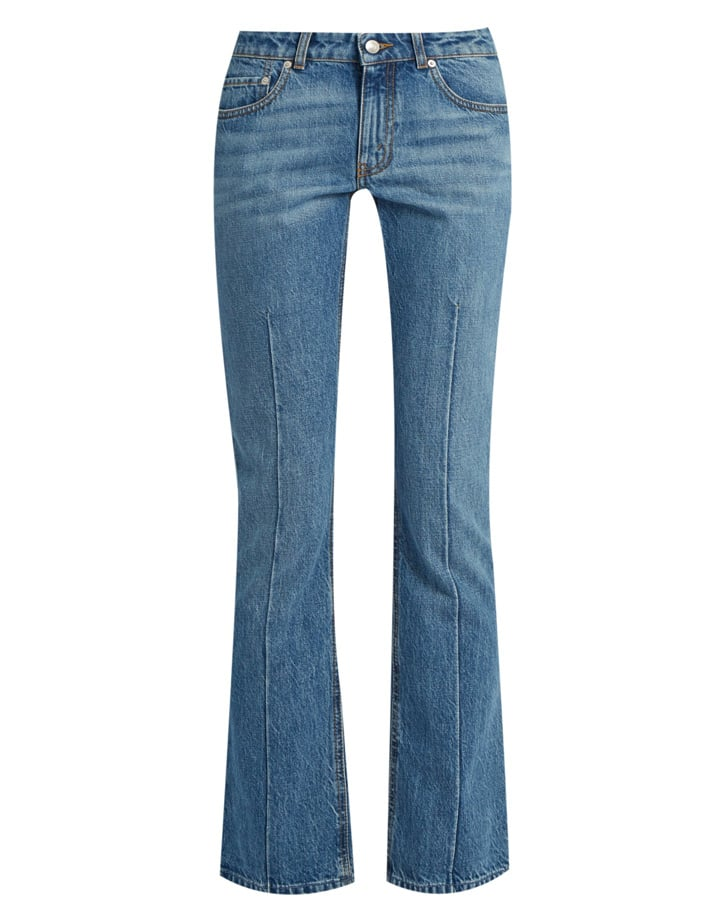 Alexander McQueen Mid-Rise Flared Cropped Jeans ($503)