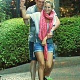 Michael Bublé held wife Luisana Lopilato during a walk in Rome.