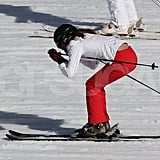 Kate Middleton showed her skills on the slopes in France.