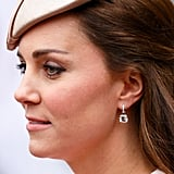 The latest Kiki sparklers that have been added to the Duchess of Cambridge's collection are the pale pink morganite classic cushion-drop earrings which she wore to the Commonwealth Service at Westminster Abbey in 2015.