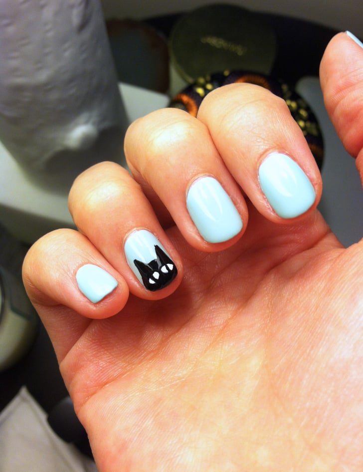 Black Cat Nail Art | POPSUGAR Beauty