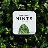 Simply Gum Natural, Vegan Breath Mints, Peppermint