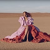 Beyoncé's Pink and Red Ruffled Valentino Gown