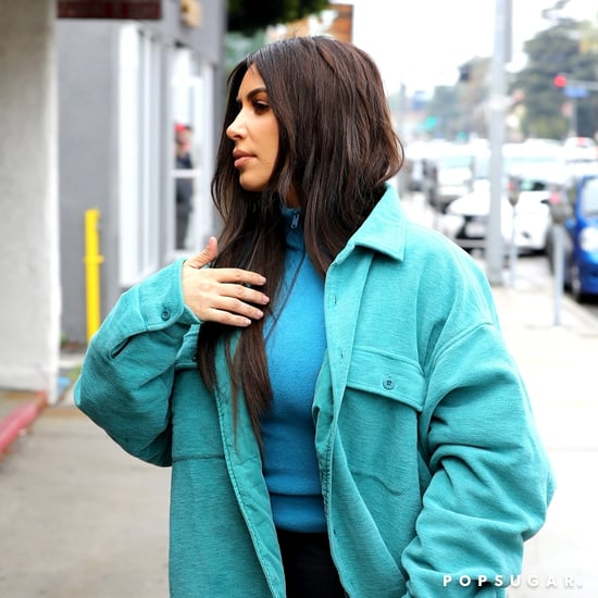 Kim Kardashian's Teal Jacket