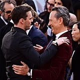 Pictured: Celebrities, Oscars, Nicholas Hoult, and Richard E. Grant