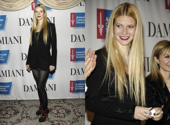 Gwyneth Battles Weather, Cold for Good Cause