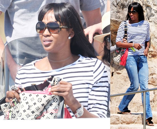 Pictures of Naomi Campbell in France