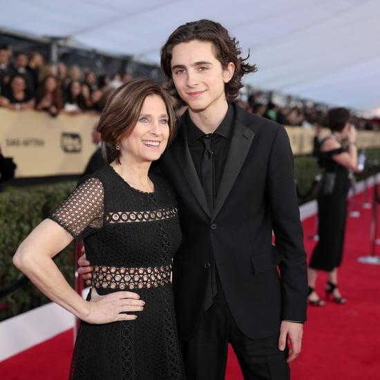 Timothee Chalamet at the 2018 SAG Awards