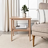 Wood and Cane Accent Table