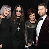 The Osbourne family got together behind the scenes.