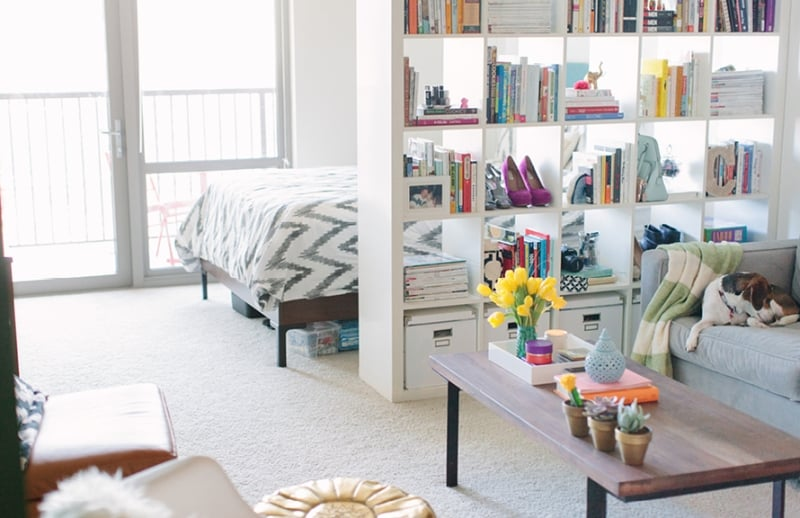 Smart design decisions like using an ikea bookshelf as a space the most st - Separateur de piece ikea ...
