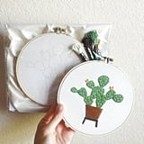 Prickly Pear Cactus Embroidery Kit
