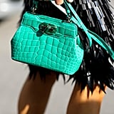 We're green with envy over this bag.