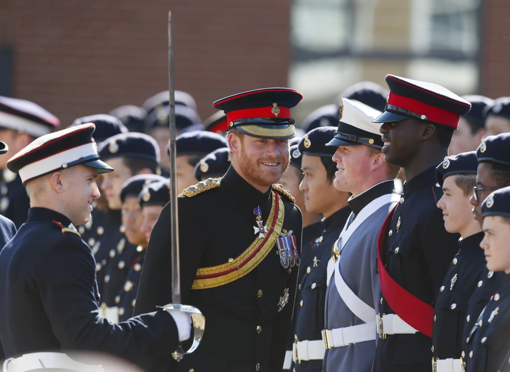 Prince Harry Brings His Sexy Scruff to Royal Military School