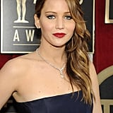Jennifer Lawrence posed at the SAG Awards.