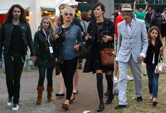 Photos of Russell Brand, Teresa Palmer, Pixie Geldof, Alex Chung at O2 Wireless Festival