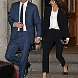 Prince Harry and Meghan Markle at Endeavour Awards Feb. 2018