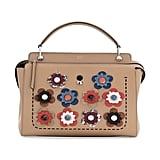 Fendi .COM Medium Floral Leather Satchel Bag, Nude ($3,300)