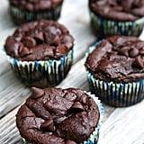 Vegan Double Chocolate Banana Protein Muffins