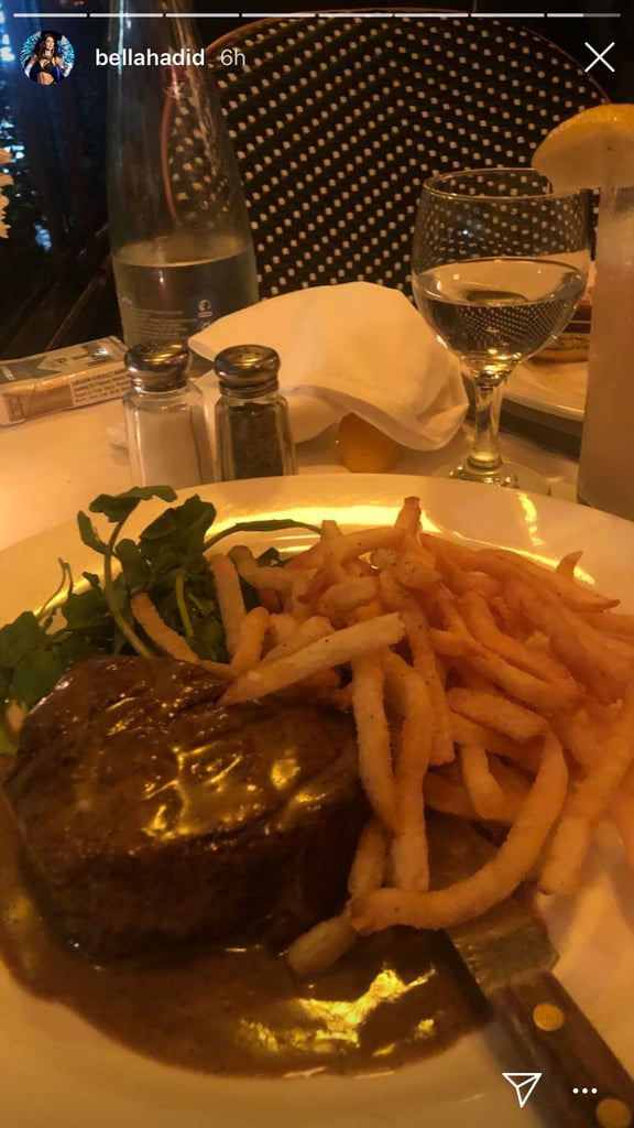 Bella Made Steak and Fries Her Fashion Week Fuel