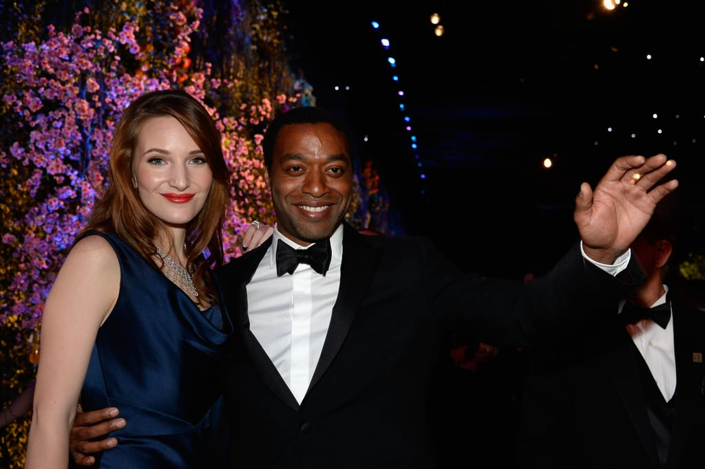 Chiwetel Ejiofor and Sari Mercer didn't look too unhappy about his loss.