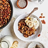Chai-Spiced Baked Oatmeal With Pecan Crumble