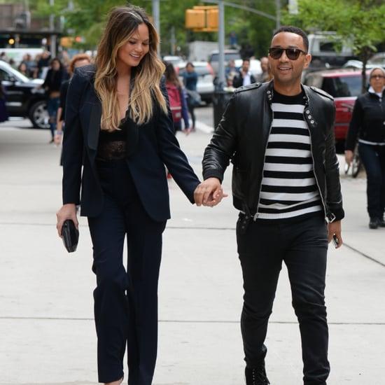Chrissy Teigen John Legend Hold Hands in NYC May 2016