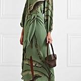 Johanna Ortiz Spirit Aloha Printed Silk Maxi Dress