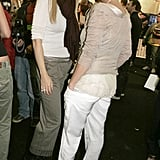 Gwyneth Paltrow stepped out to support Stella McCartney at Stella's October 2004 show.